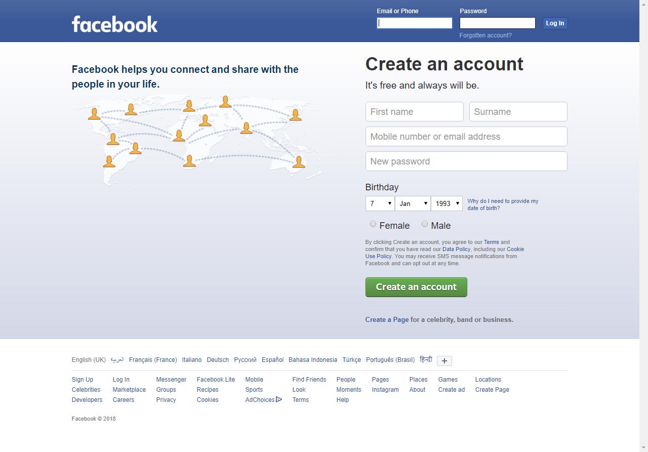 صورة كيف تسوي حساب , ازاى اعمل حساب فى الفيس بوك