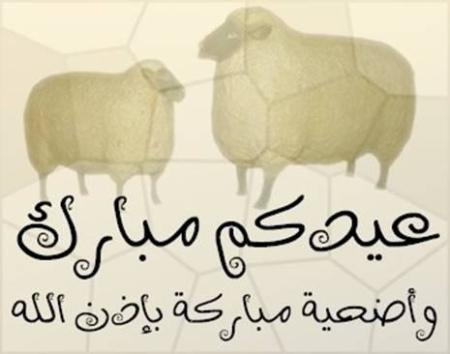صورة أجمل التهاني لعيد الأضحي المبارك , تهنئة عيد الاضحى 990 1